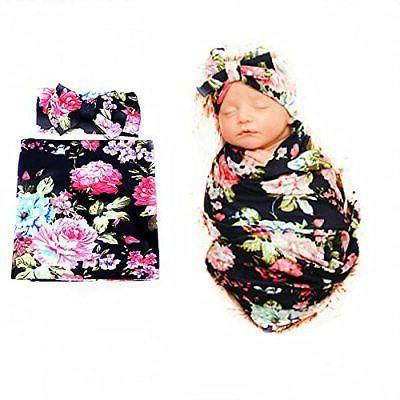newborn receiving blanket headband set
