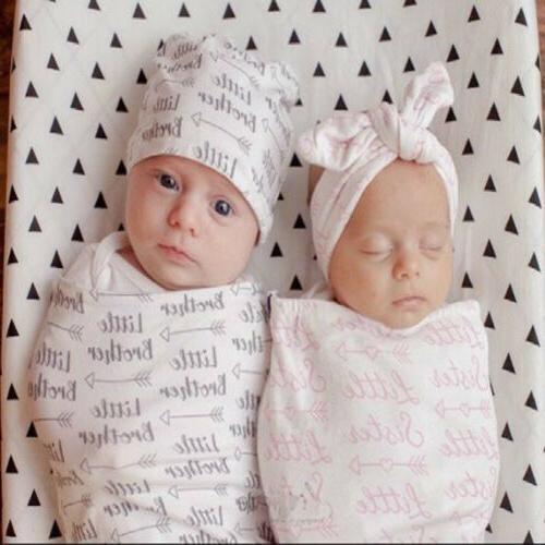 2Pcs/Set Newborn Swaddle Baby Cocoon Muslin