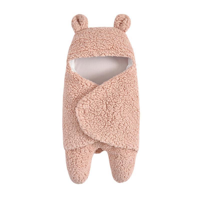 Toddler Baby Fleece Swaddle Wrap Blanket Sleeping