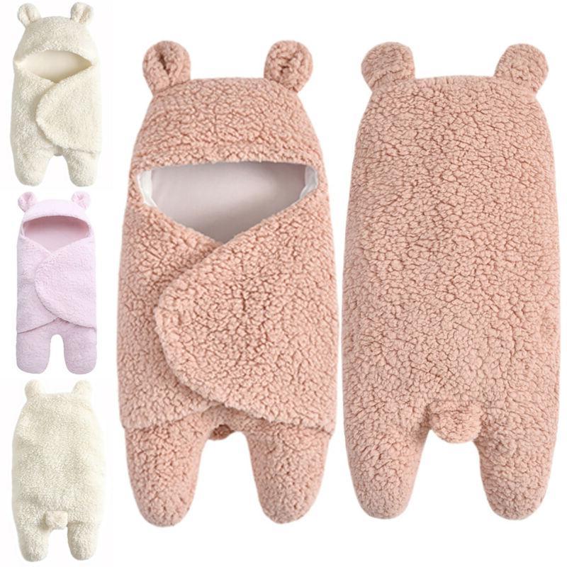 Toddler Baby Fleece Swaddle Wrap Sleeping Bag Winter Warm