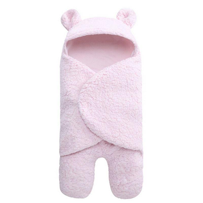 Toddler Newborn Baby Fleece Swaddle Wrap Sleeping