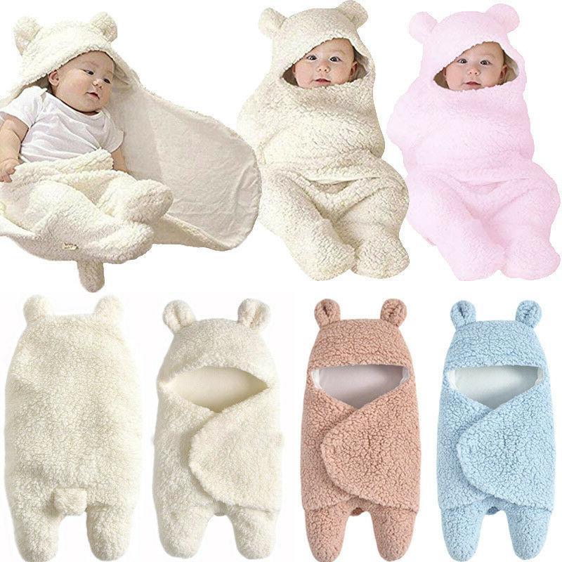 newborn toddler babys cotton receiving sleeping blanket