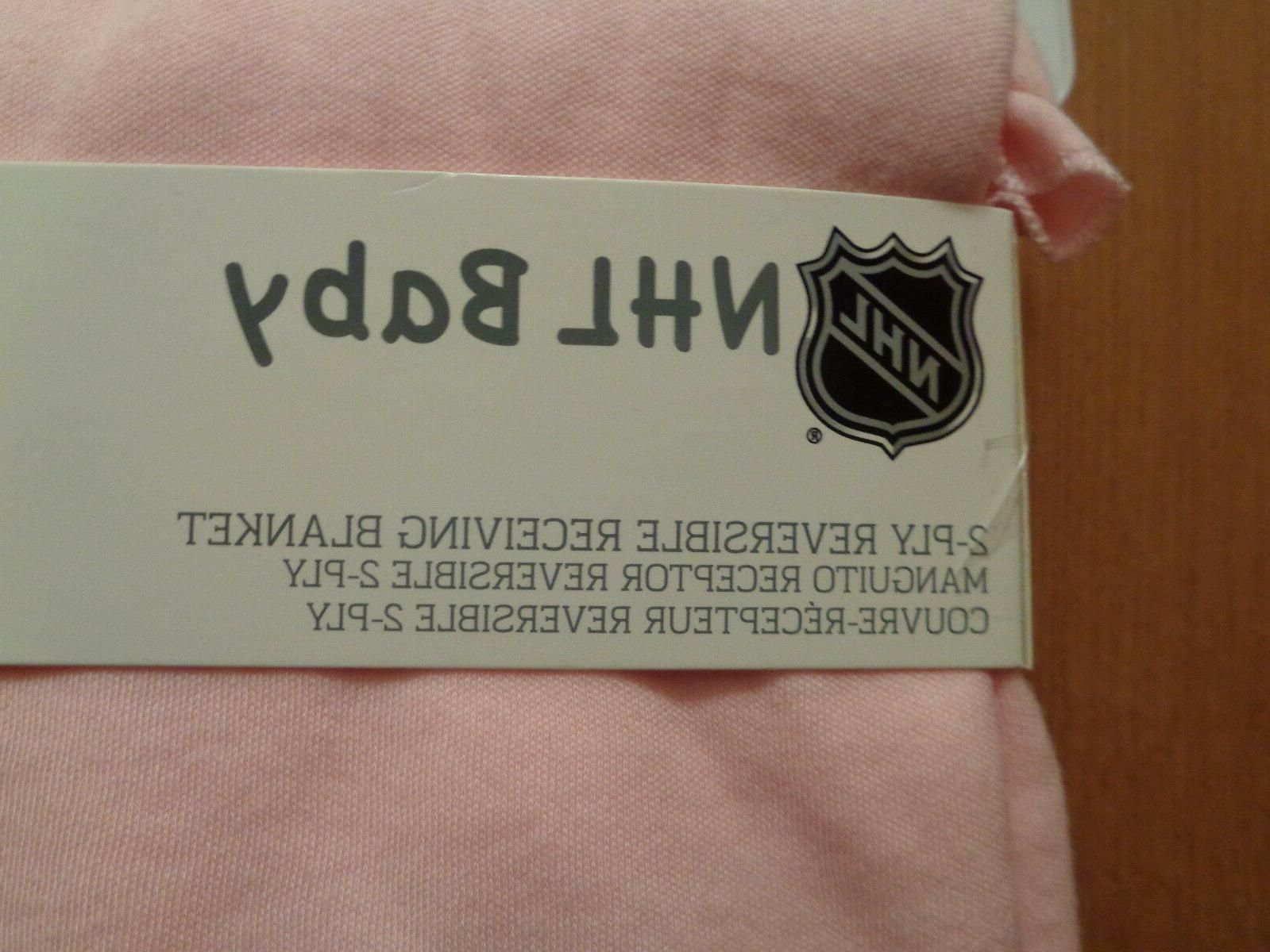 NHL Wild Baby 2-Ply Reversible Pink