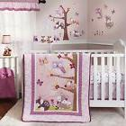 NURSERY 3pc FAIRY TALE Animal BEDDING SET Baby Crib Pink Pur