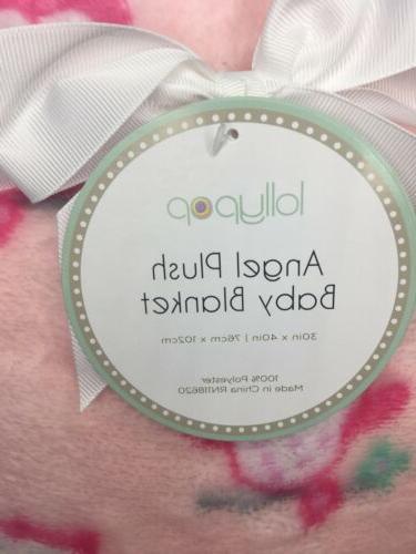 Owl Plush Blanket Lollypop