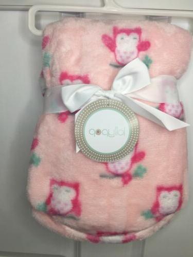nwt baby girls pink owl theme plush