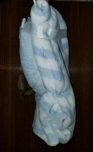 blue white zig chevron striped Home