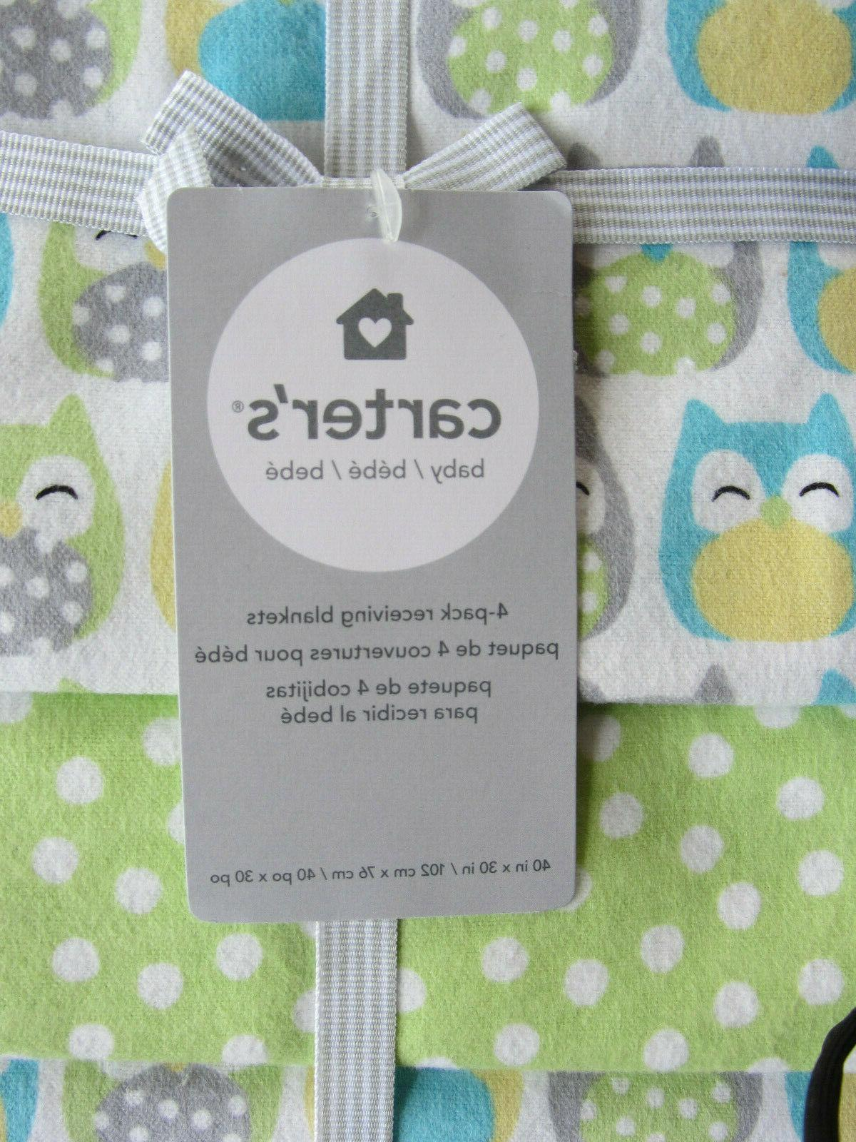 NWT 4 Pack Baby Blankets Blue