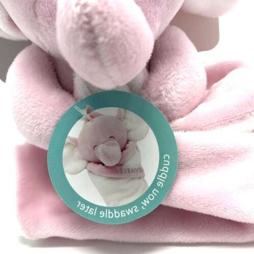 NWT Pink Plush Lovable Elephant Security Blanket Lovey