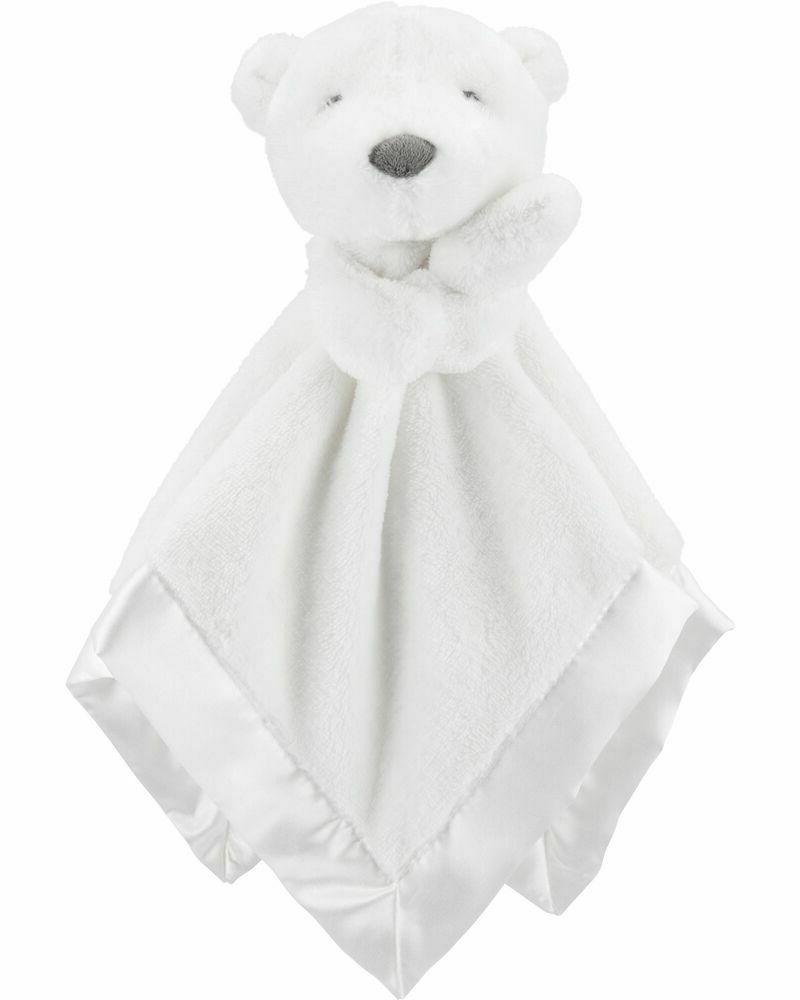 nwt carters white polar bear security blanket