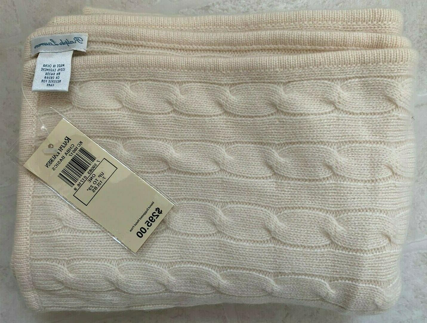 nwt cashmere baby blanket cream beige color