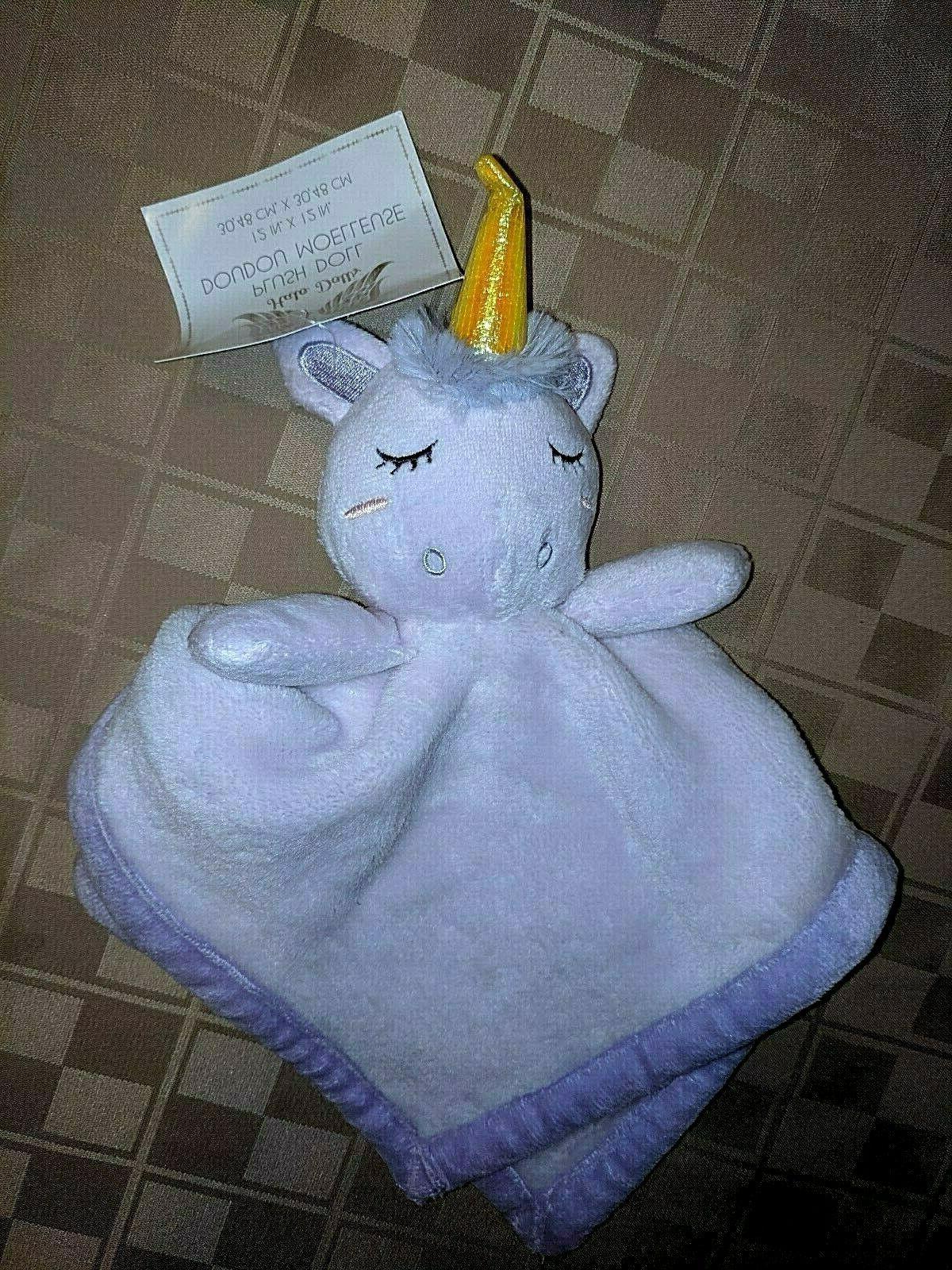 nwt dolls unicorn security blanket baby purple