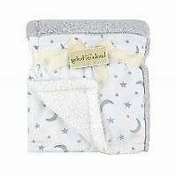 NWT Koala Baby Grey And White Moon Stars Patchwork Faux Fur