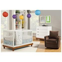 Baby Mod Olivia 3-in-1 Convertible Crib with Toddler Bed Con