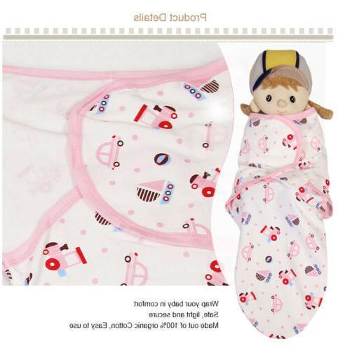 Organic Baby Infant Swaddle Easy Wrap Swaddling 0-4