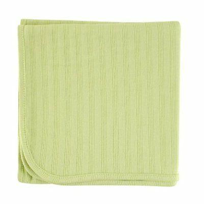 Touched by Nature Organic Cotton Receiving Blanket, Celery,