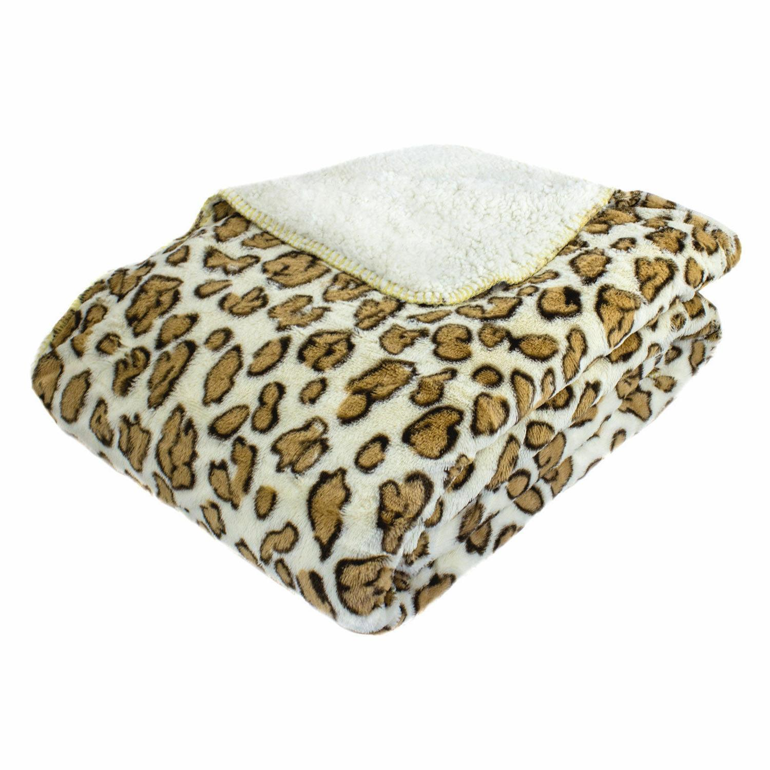 oversized luxury mink animal print throw