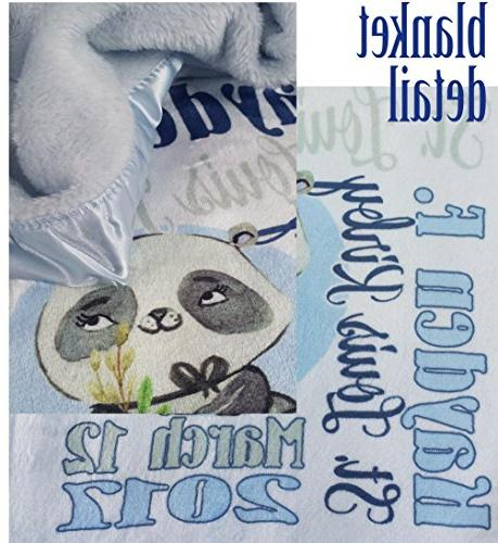 Personalized Blankets for Boys Custom Name Special Gifts Newborn Baby Nursery Christening or