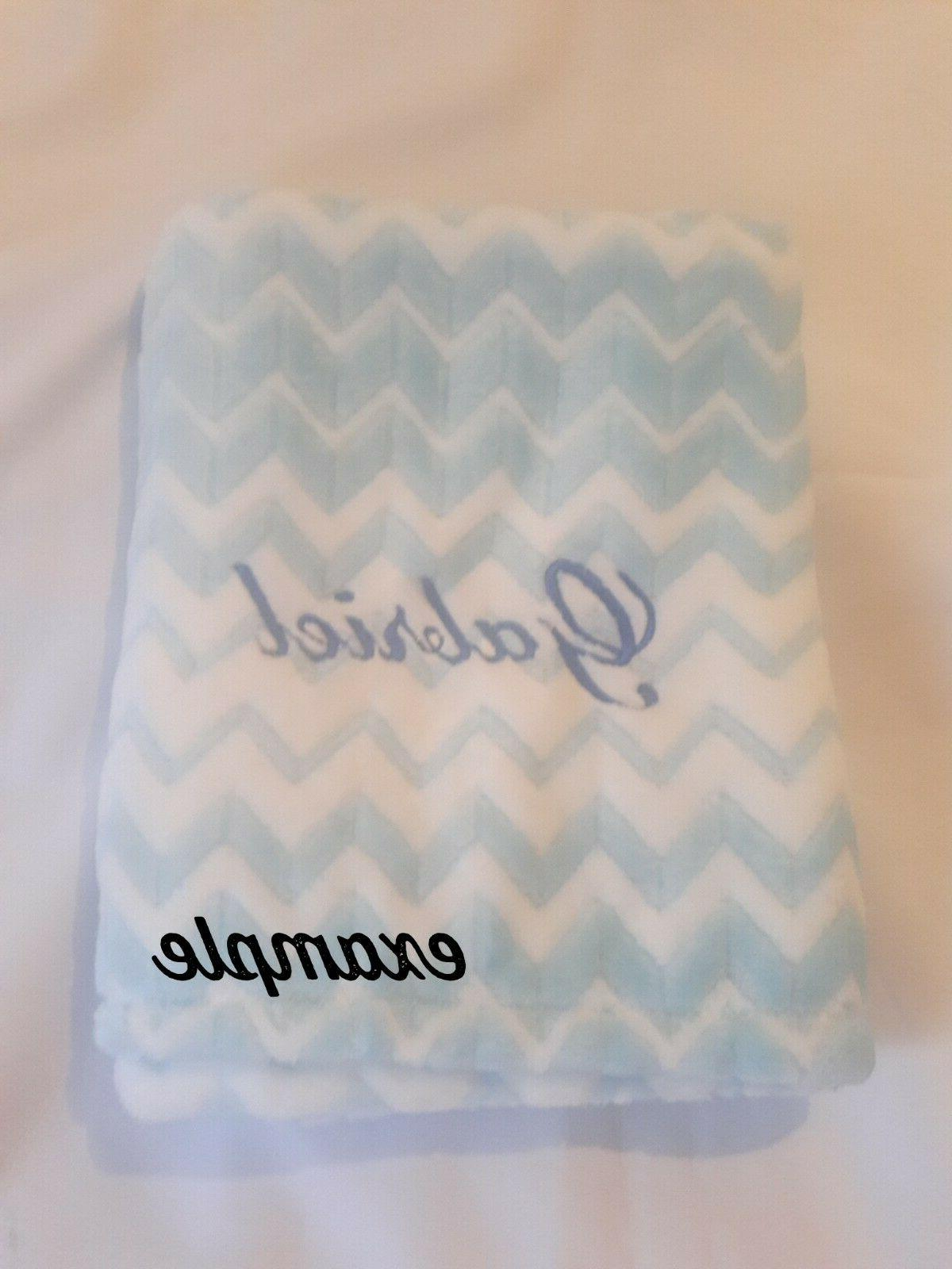 PERSONALIZED Custom Embroidered Minky 30x34 -