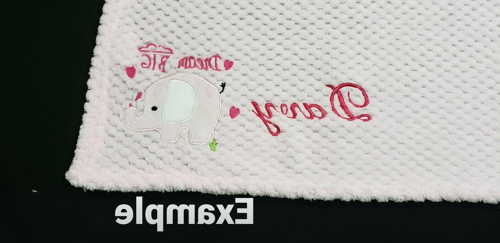 PERSONALIZED Custom Minky Baby Blanket 30x34 -