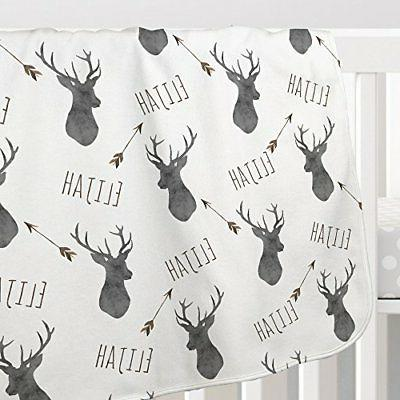 Personalized Deer Boys Charcoal brown print