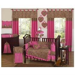 Pink Cheetah 9-piece Crib Bedding Set