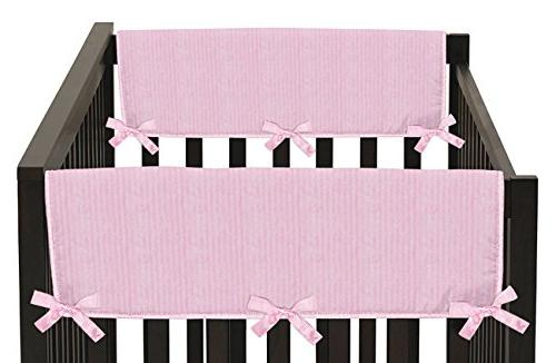 pink chenille satin teething protector