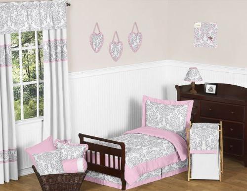pink elizabeth toddler bedding girl