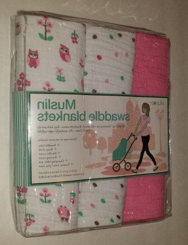 pink muslin swaddle blankets