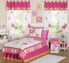 Sweet Jojo Designs Pink Orange Flower Butterfly Garden Kid T