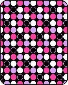 Regal Comfort Pink Polka Dot Print Acrylic Mink Crib Baby Bl