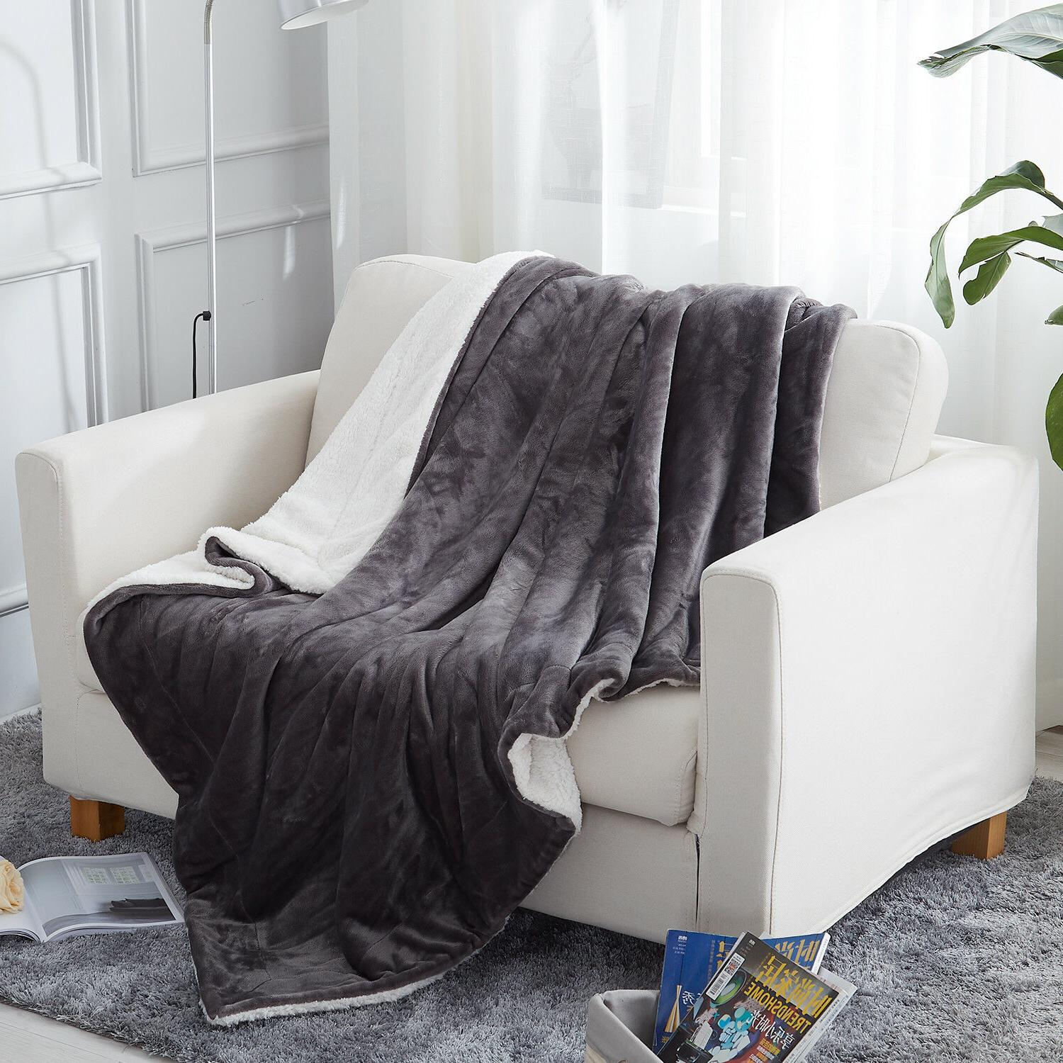 plush fuzzy sherpa throw blanket for couch