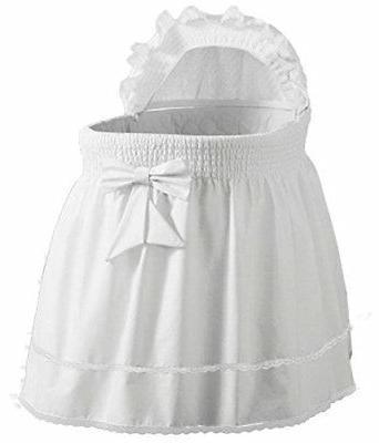 BabyDoll Embossed Damask Creation Liner/Skirt & Hood, White,