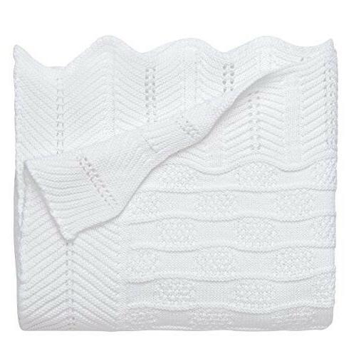 premium 100 percent cotton knit blanket white