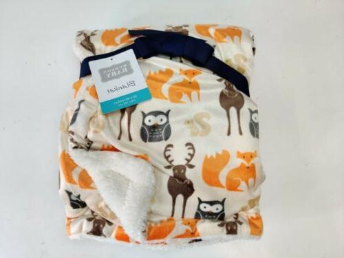 hudson baby printed mink with sherpa backing