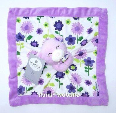 Carter's Purple Bear Security Blanket with Plush