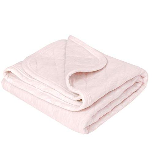TILLYOU Quilted Thermal Baby 39x47 Large, Breathable Jersey Cotton, & for Pink