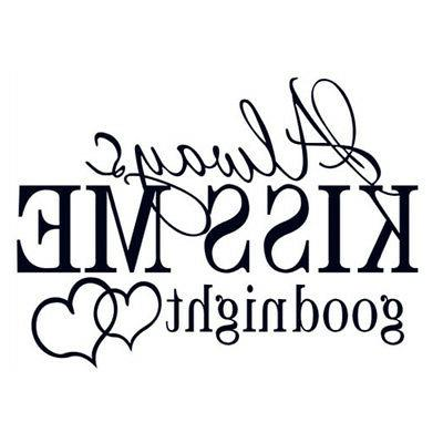 "Quote Goodnight"" Decals Decal Decor"