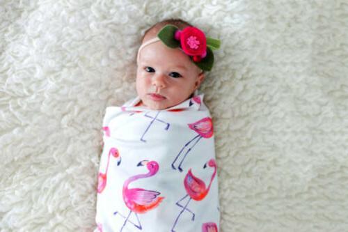 Rac Flamingo Newborn Baby Swaddle Sleeping Bag US