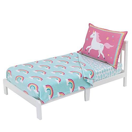 Carter's Rainbow Coral Fleece Toddler Sky Blue, Pink,