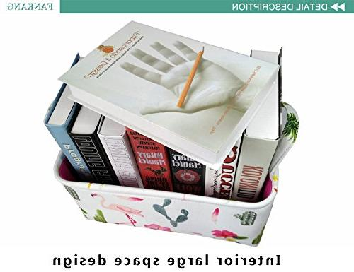 Rectangular Toy Box Baby Basket Prints for Kids Toys Nursery Bag,Gift