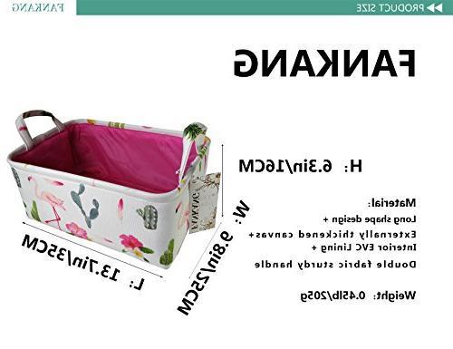 Rectangular Fabric Bin Toy Basket Flamingo Prints for and Nursery Storage, Baby Bag,Gift Baskets