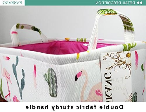 Rectangular Storage Toy Box Baby Basket with for Kids Nursery Bag,Gift