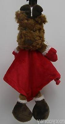 Baby Starter Reindeer Rattle Red Velvet Little Security Blan