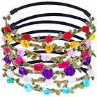 eBoot 7 Pieces Rose Flower Headband Hair Band for Women Girl