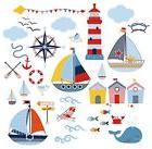 Sail Away Nursery/Boys Room Decorative Peel & Stick Wall Art