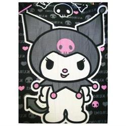 Sanrio Hello Kitty Kuromi Devil Goth Skull Fleece Soft Throw