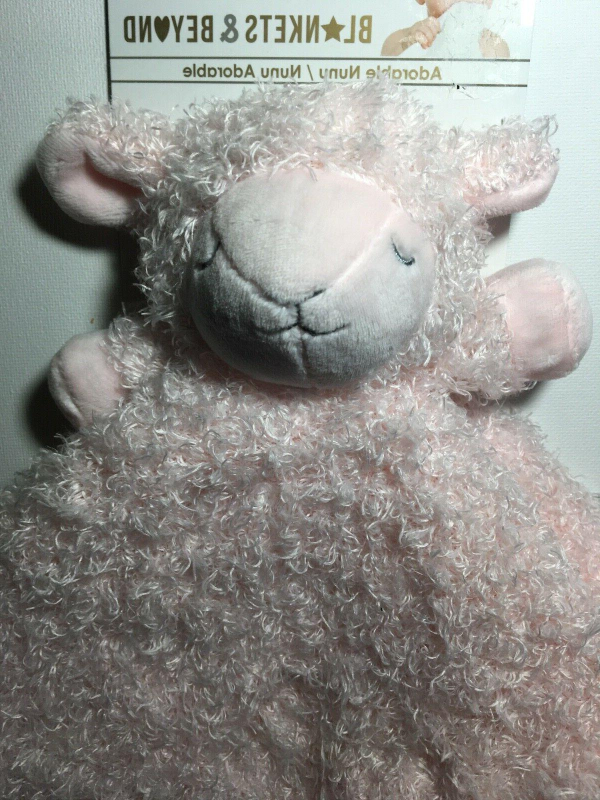Blankets and Beyond Security Blanket Lamb Pink Shaggy Baby L