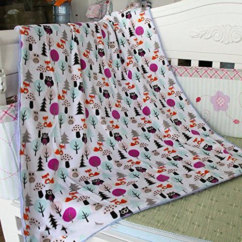 Genio Baby Sherpa Fleece x Soft- Perfect for and Owl Baby Blankets, Blankets for