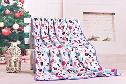 Genio Baby Blanket x 40 for Swaddling and Owl Blankets